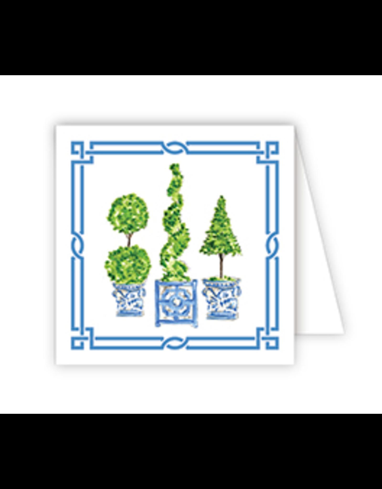 Handpainted Topiary Enclosure Card