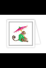 RoseanneBECK Collection Monkey Umbrella Enclosure Card