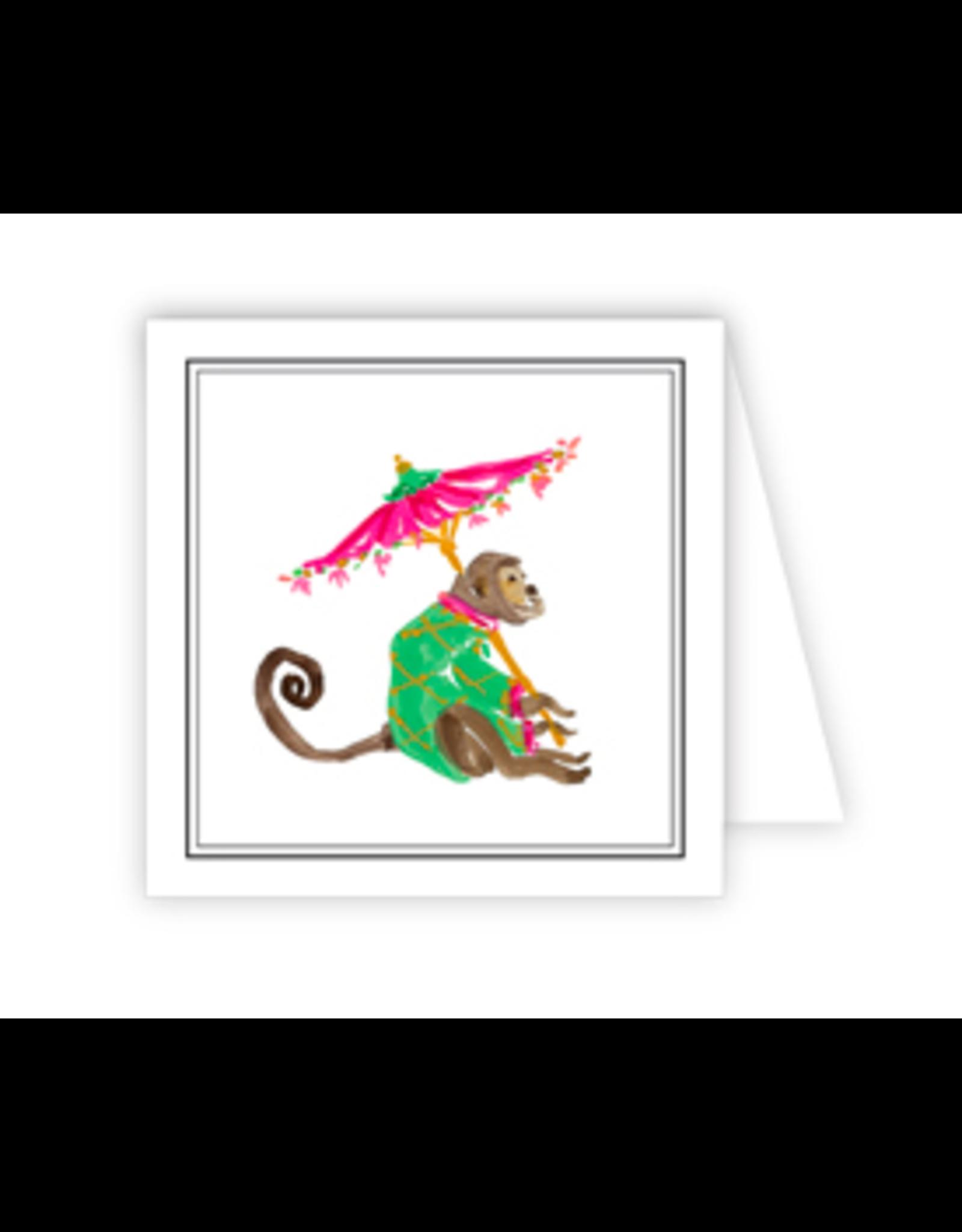 Monkey Umbrella Enclosure Card