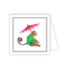 Monkey Umbrella Enclosure Card