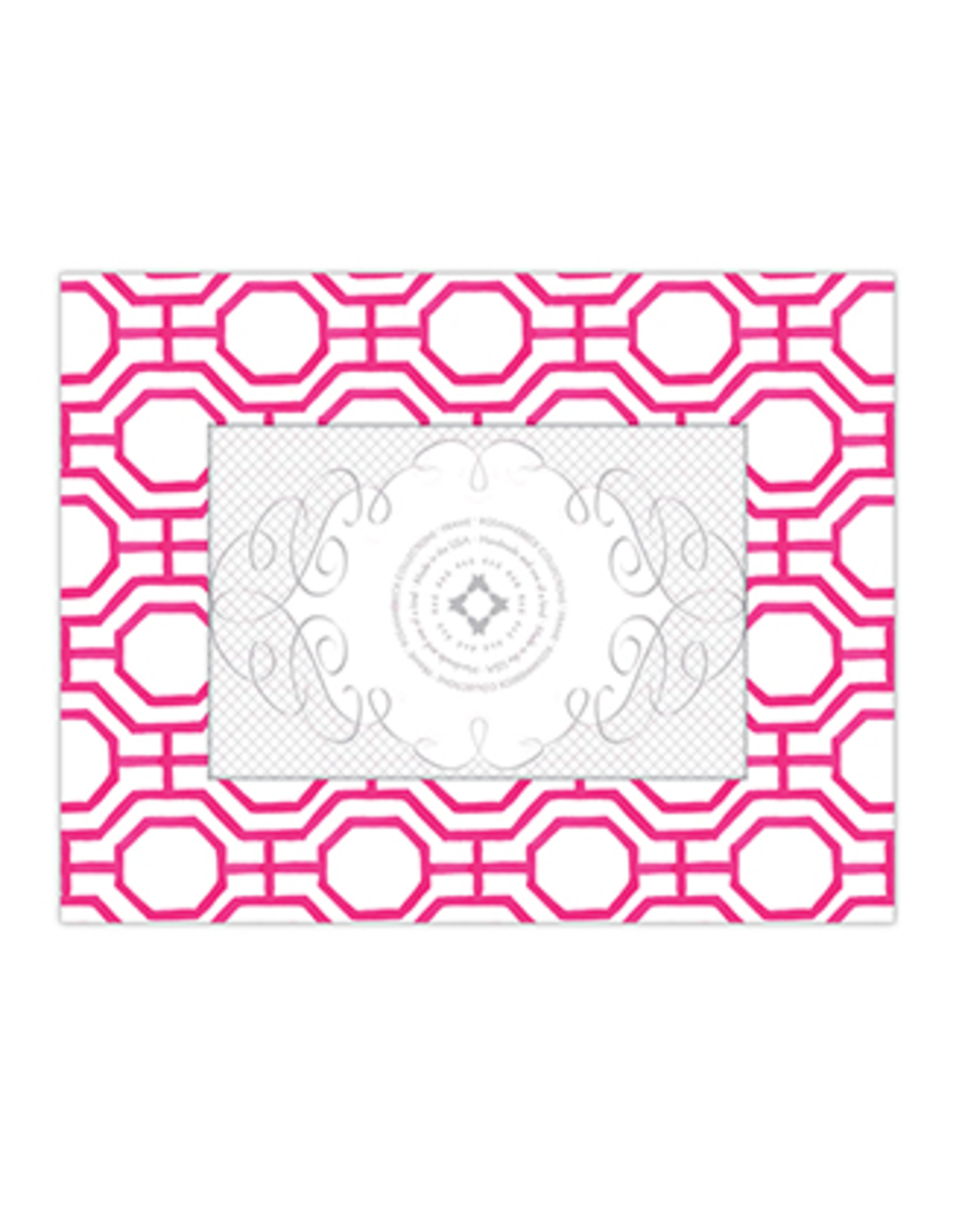 Handpainted Geometric Hot Pink 4x6