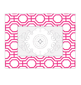 Handpainted Geometric Hot Pink 4x6