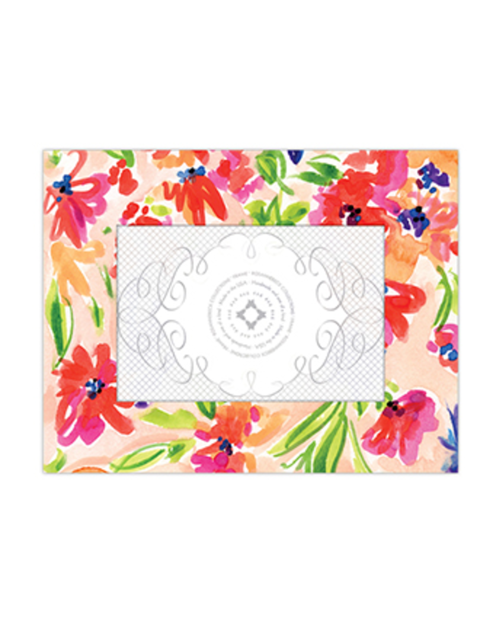 """Handpainted Floral Frame 4"""" x 6"""""""