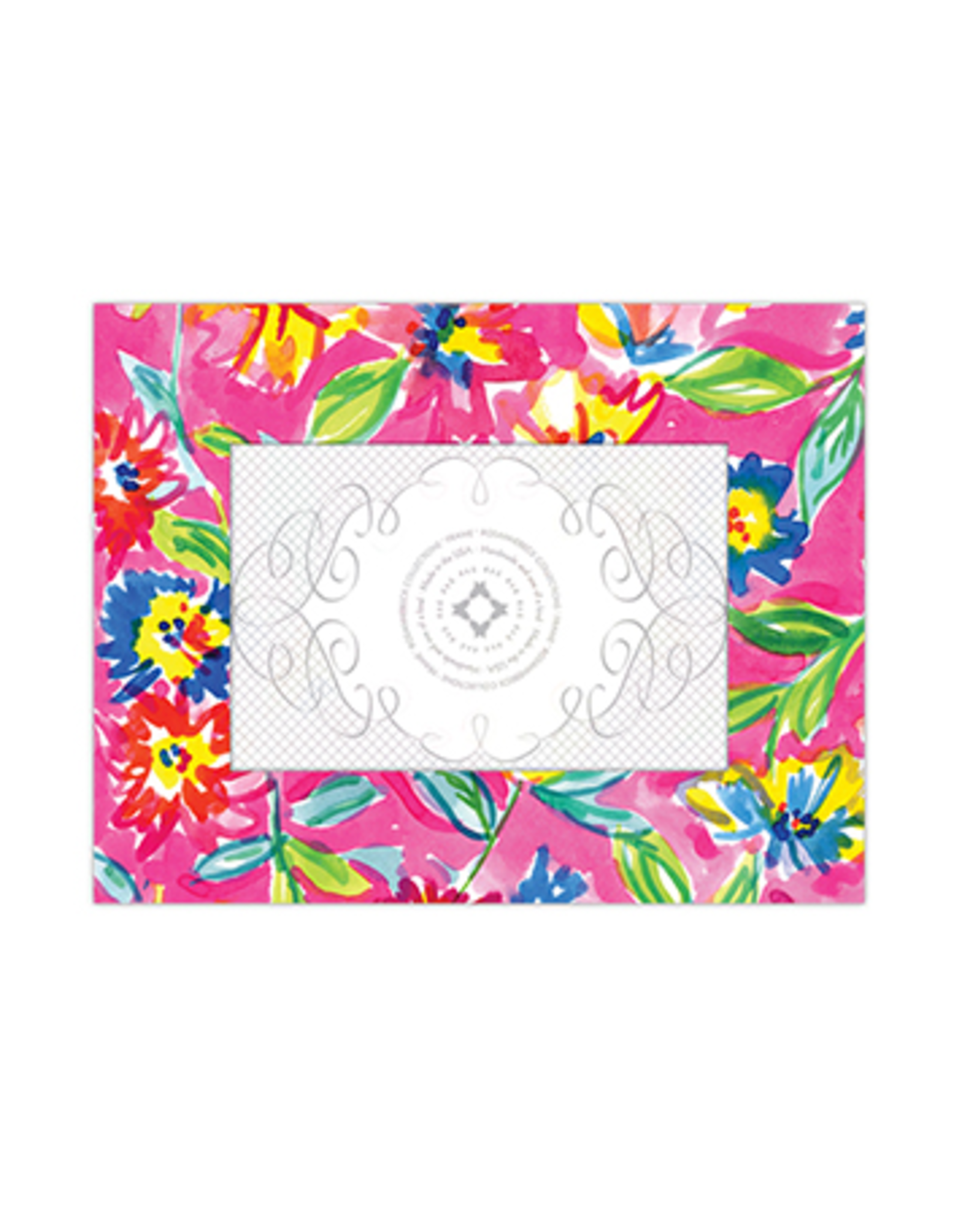 """RoseanneBECK Collection Handpainted Floral Frame 4"""" x 6"""""""