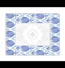 Watercolor Ikat Perriwinkle/Blue 4x6 Frame