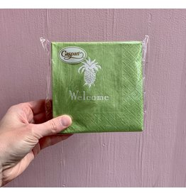 Caspari Lime Welcome Pineapple Napkin