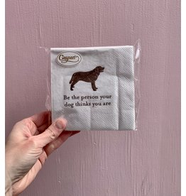 Caspari Be The Person Dog Napkin