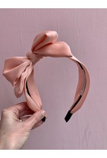 Big Bow Headband in Light Pink