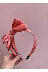 Big Bow Headband in Coral