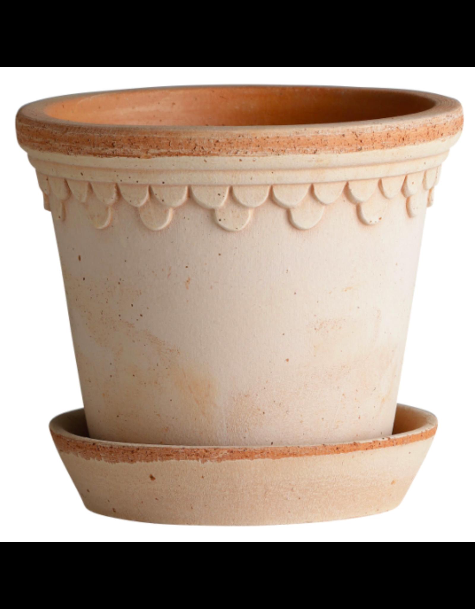 Bergs Potter Copenhagen Pot in Rose + Saucer by Bergs Potter