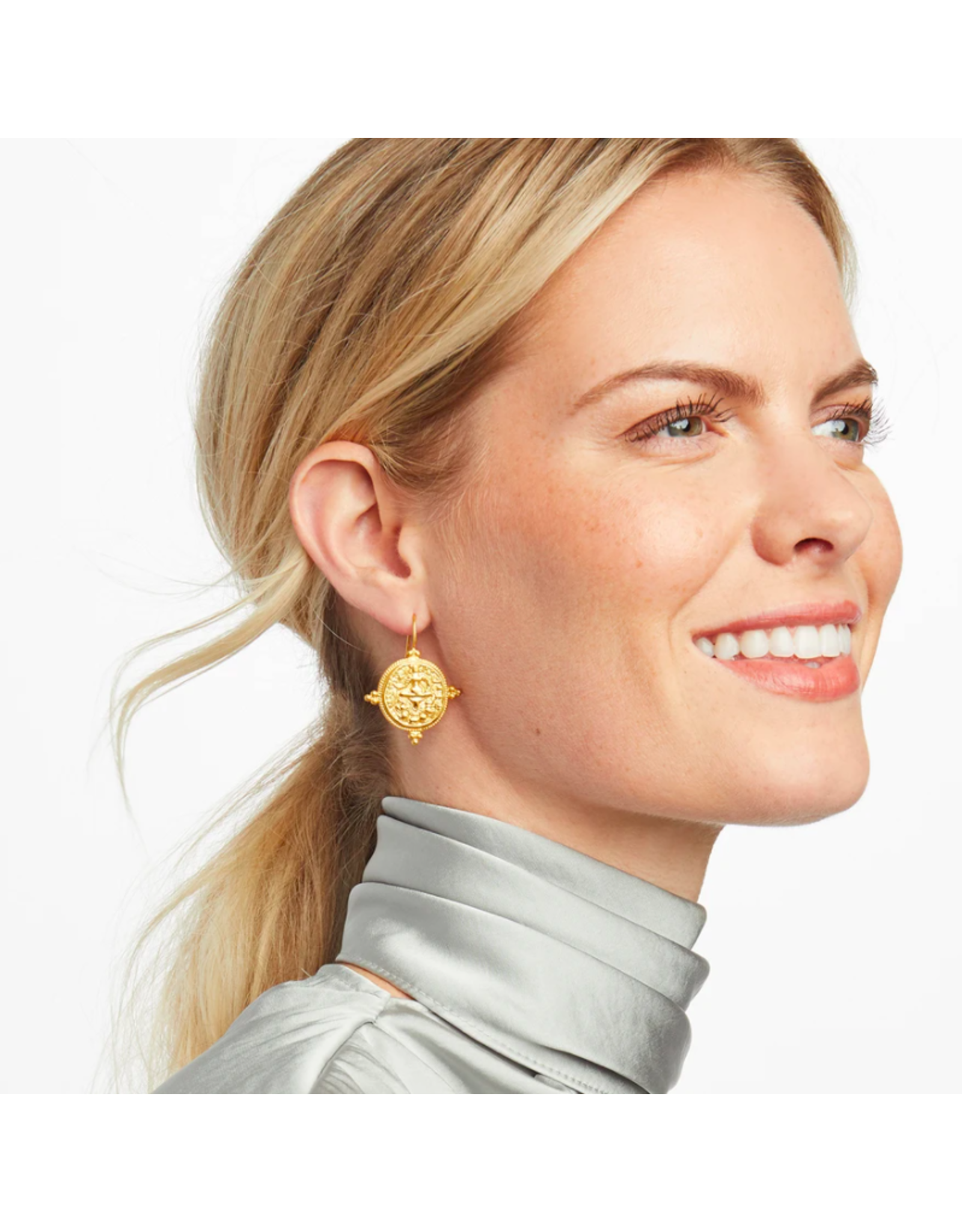 Julie Vos Quatro Coin Earring by Julie Vos