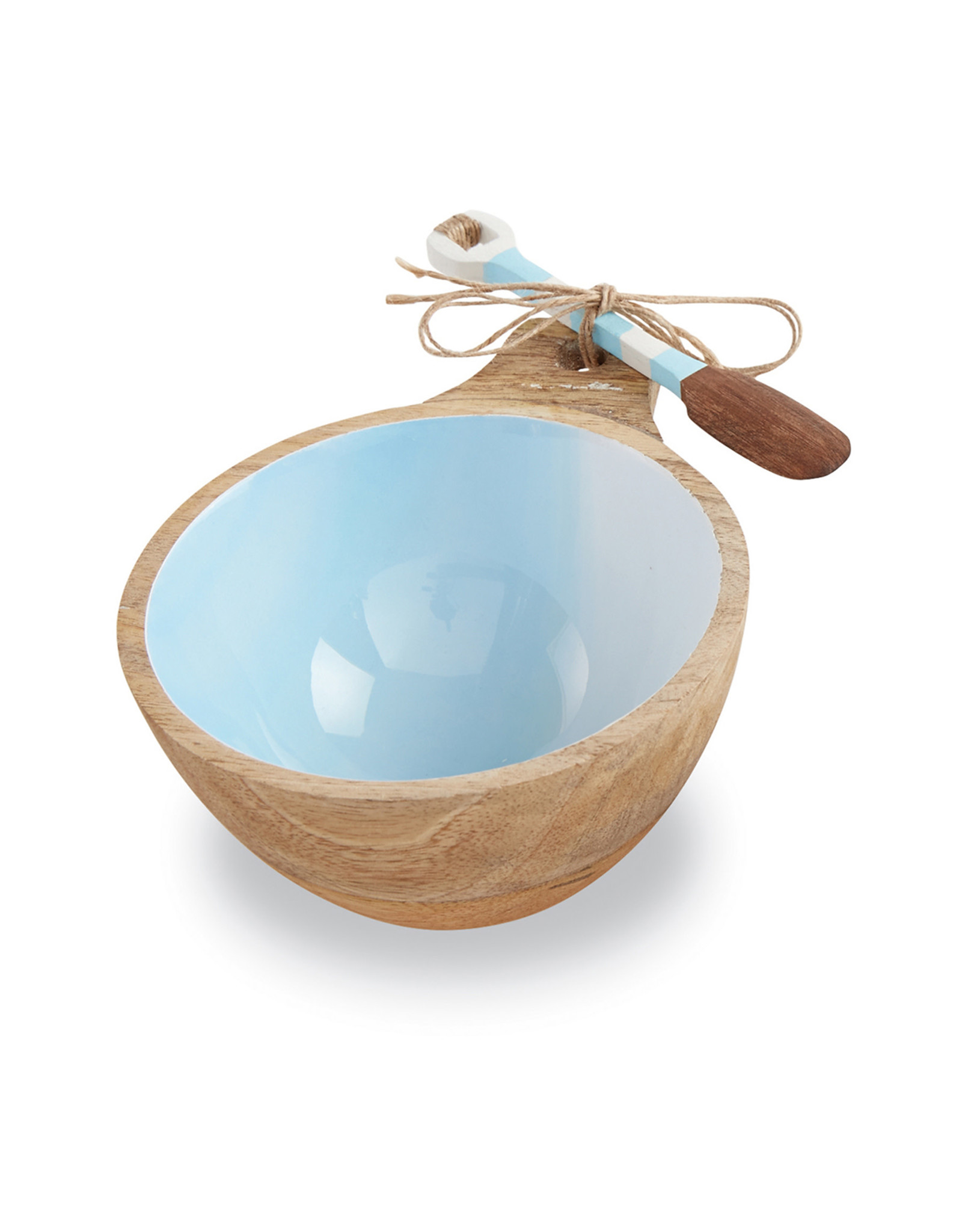 Beach Wood Dip Bowl Blue