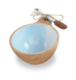 Beach Wood Dip Bowl Blue