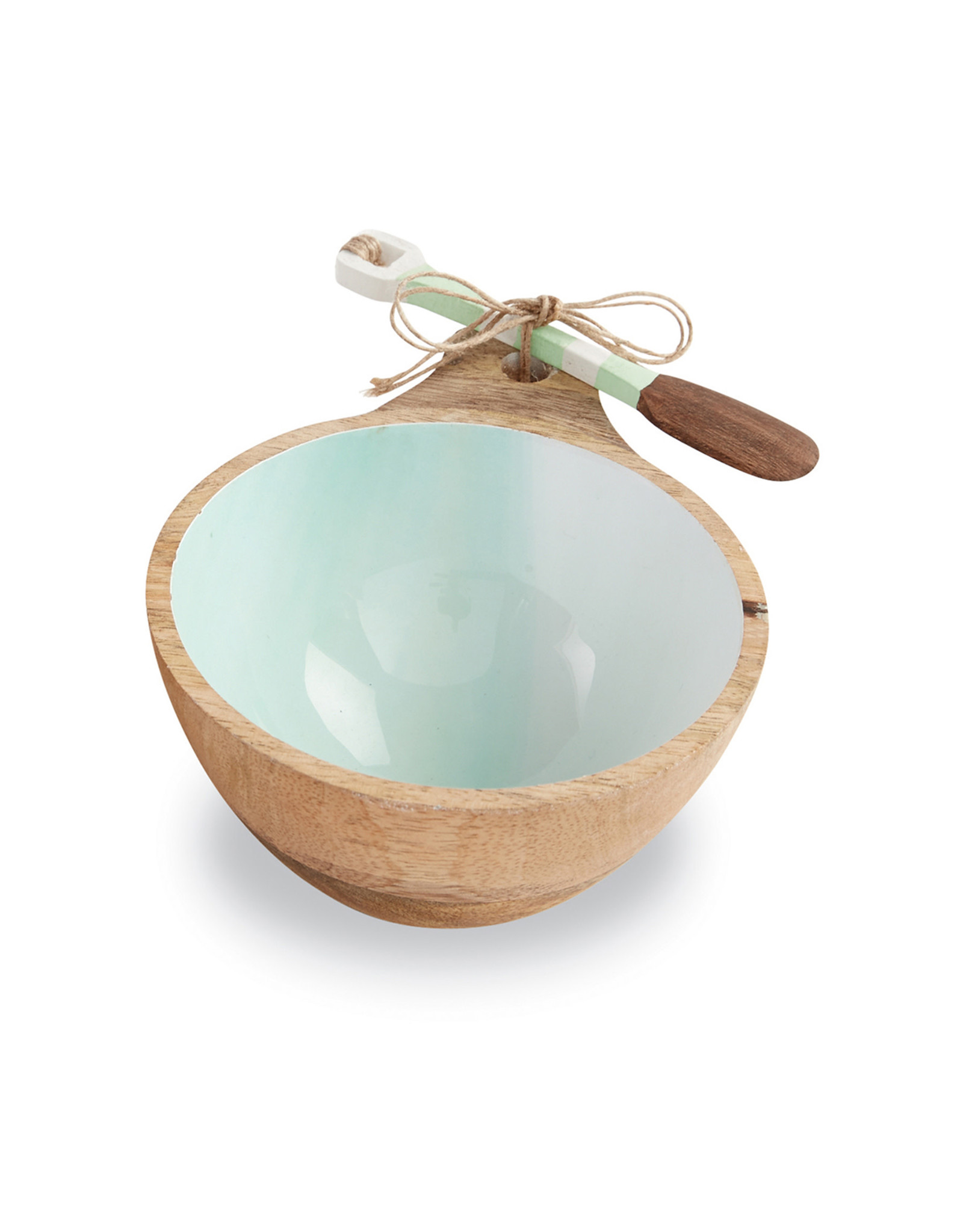 Beach Wood Dip Bowl Aqua