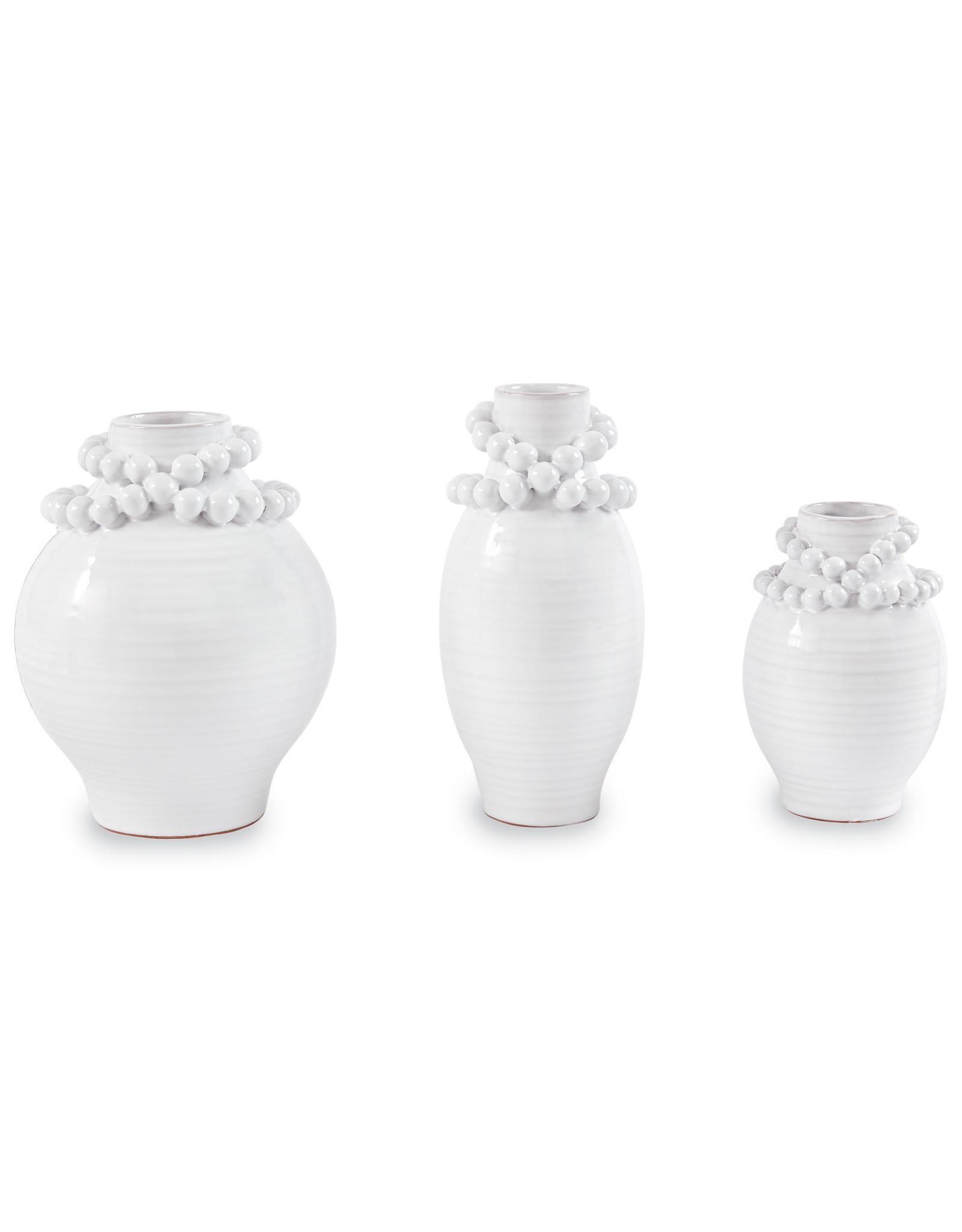 Beaded Stoneware Vase