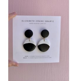 Elizabeth Crane Swartz Black and White Circle Drop by Elizabeth Crane Swartz