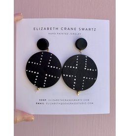 Elizabeth Crane Swartz Black and White Cross Earring by Elizabeth Crane Swartz