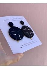Elizabeth Crane Swartz Black and White Cross Earring by Elizabeth Crane Swartz