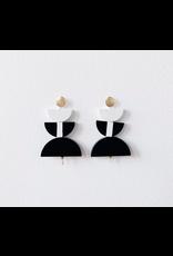 Elizabeth Crane Swartz Black and White 3 Piece Earring by Elizabeth Crane Swartz