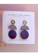 Elizabeth Crane Swartz Purple 3 Piece Earring by Elizabeth Crane Swartz