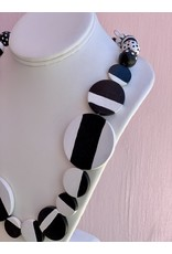 Elizabeth Crane Swartz Caroline Black & White Necklace by Elizabeth Crane Swartz