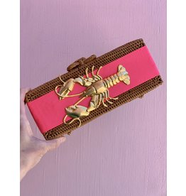 Lisi Lerch Colette Clutch in Hot Pink with Lobster by Lisi Lerch
