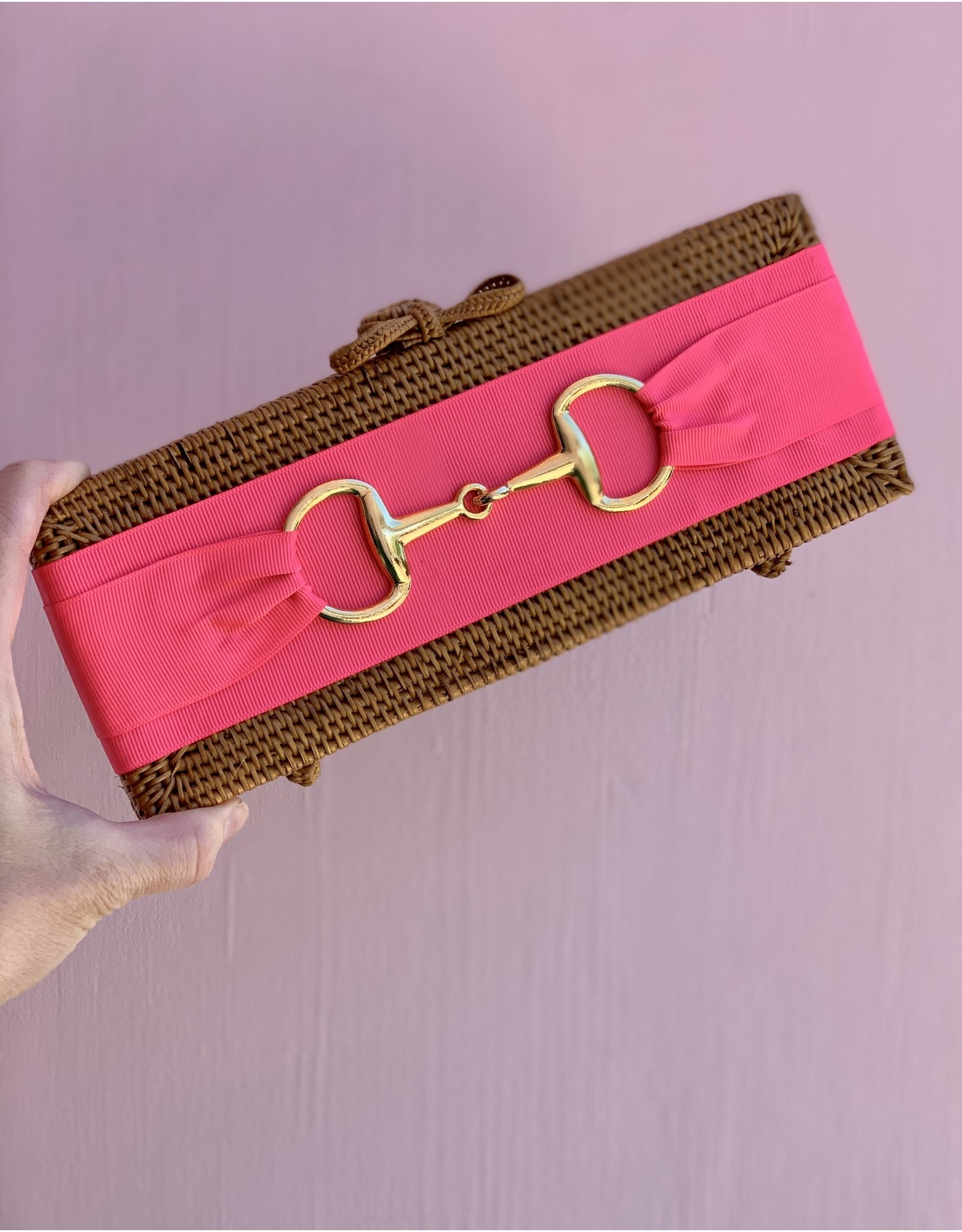 Lisi Lerch Colette Clutch Hot Pink with Snaffle by Lisi Lerch