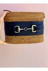 Lisi Lerch Charlotte Crossbody in Navy with Snaffle by Lisi Lerch