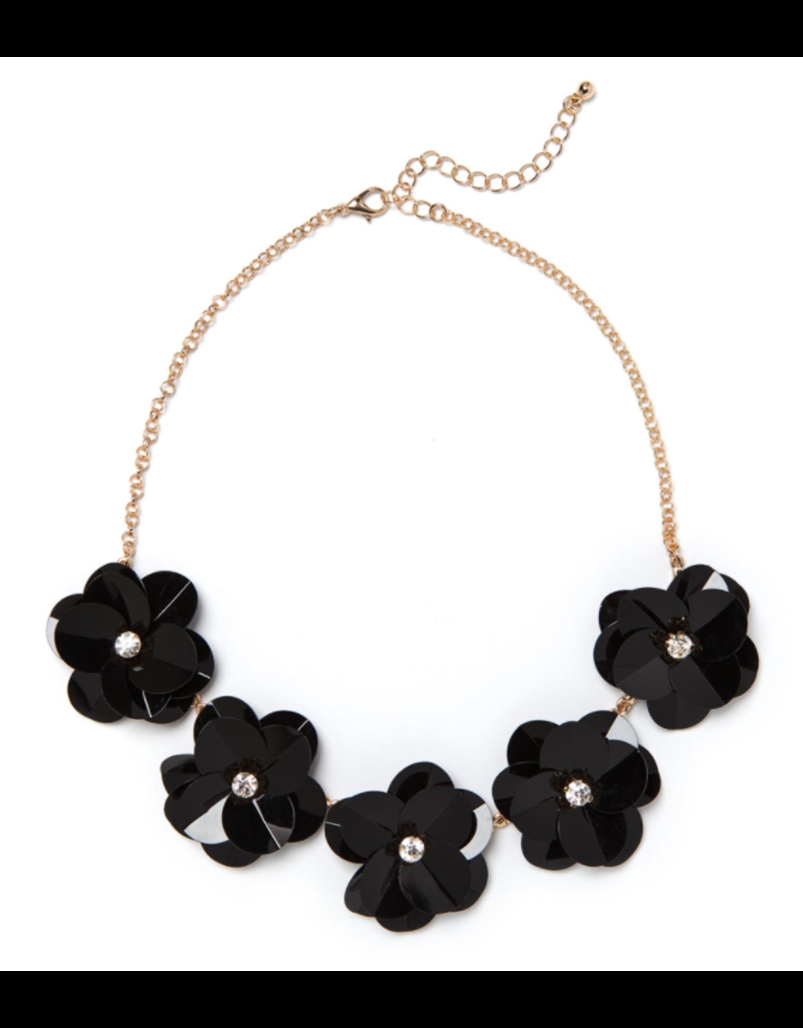 Camellia Necklace Black