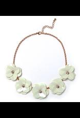 Camellia Necklace White