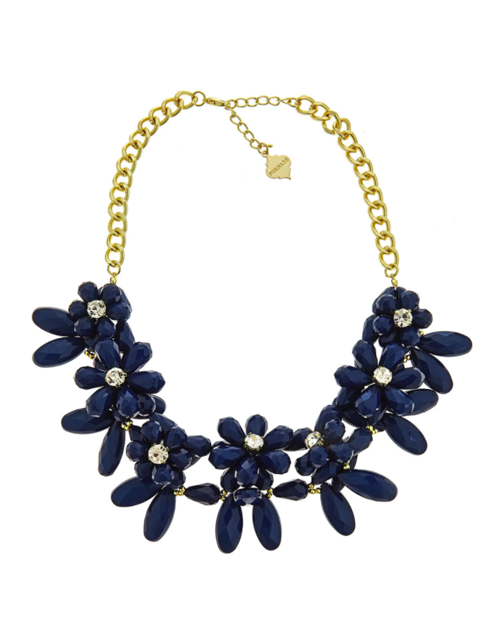 Marie Necklace in Navy