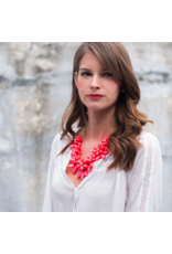 Marie Necklace in Coral