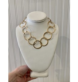 Hammered Chain Necklace in Gold