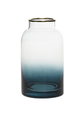 """Blue/Clear Potion Vase 3"""" x 5.5"""""""