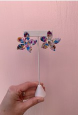 Multi Colored Acrylic Flower Earring