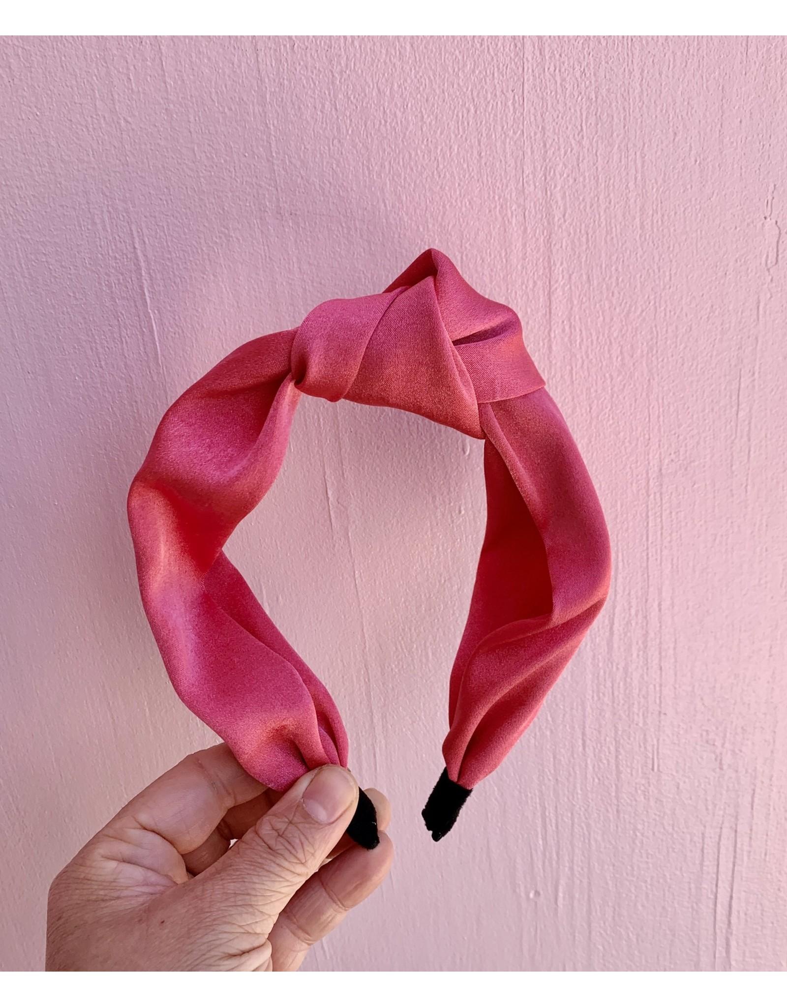 Headband with Knot Fuchsia