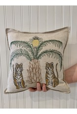 """Coral & Tusk Tigers with Pineapple Palm Tree 12"""" x 12"""" by Coral & Tusk"""