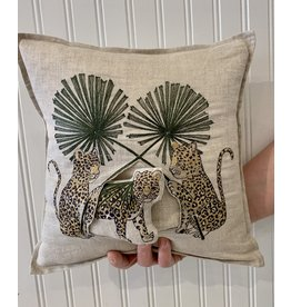 Coral & Tusk Jaguar Palm Pocket Pillow 12x12 Coral & Tusk