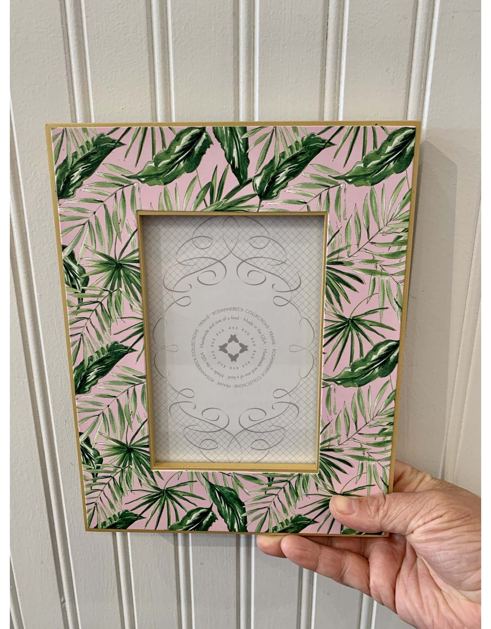 """RoseanneBECK Collection Handpainted Palms Frame 4"""" x 6"""""""