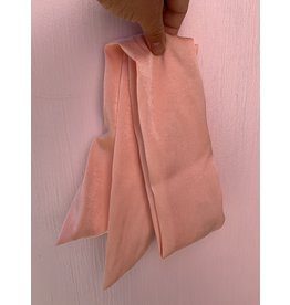 Silk Wired Headscarf in Peach
