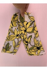 Cotton Wired Headscarf in Yellow Floral
