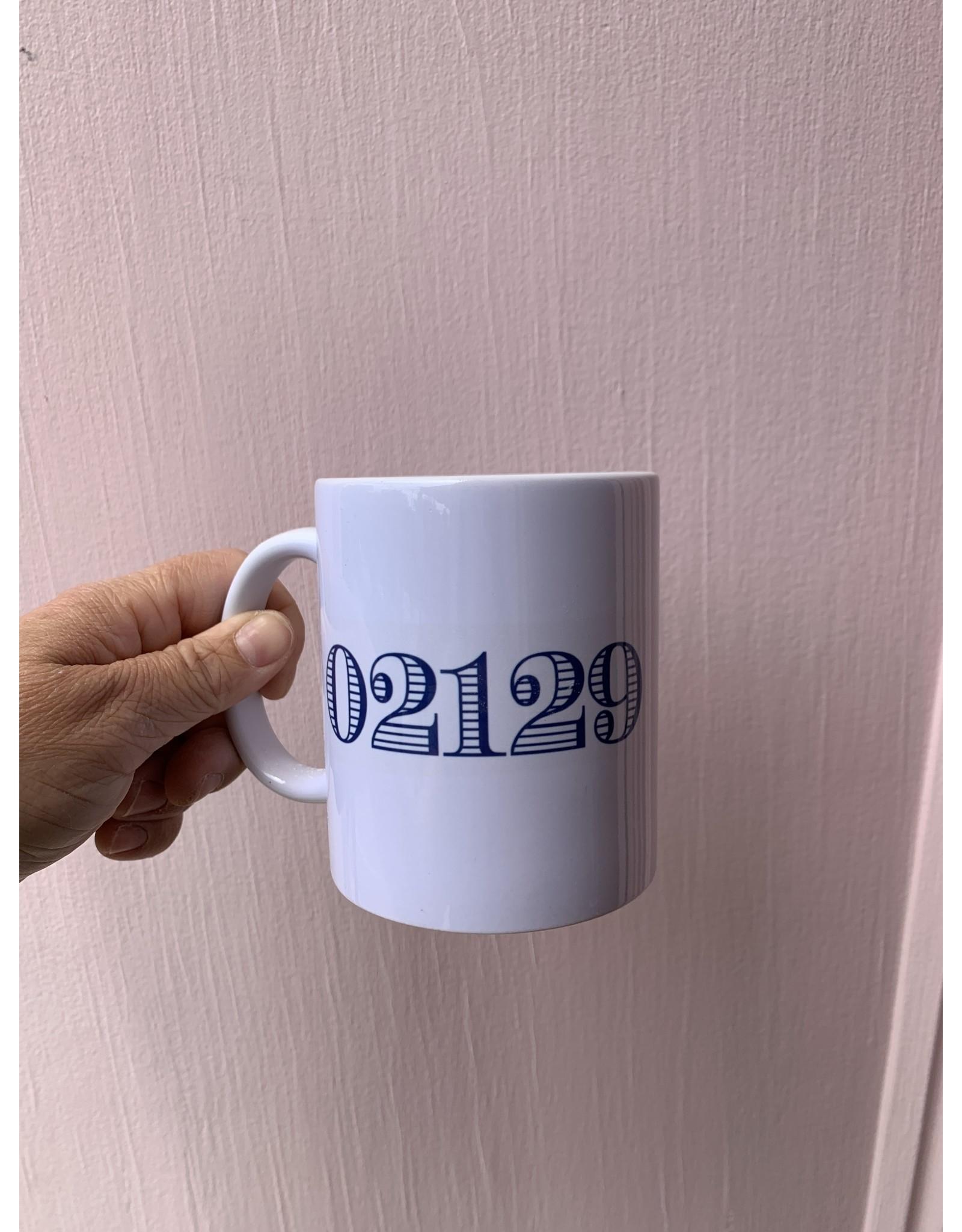 02129 Navy Stripes Mug
