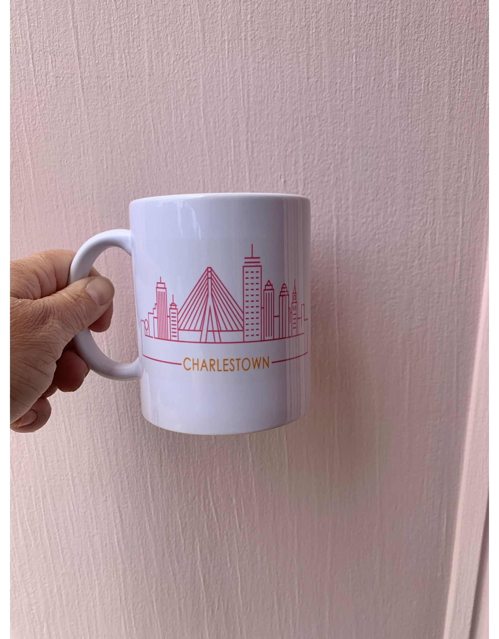 Charlestown Skyline Mug in Pink and Orange