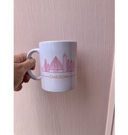 RoseanneBECK Collection Charlestown Skyline Mug in Pink and Orange