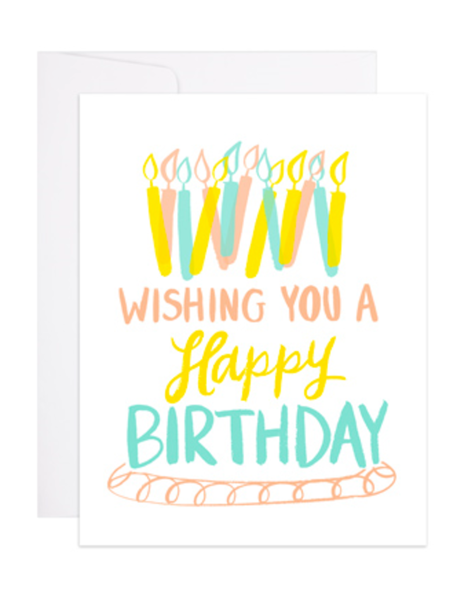 9th Letterpress Birthday Candles Card