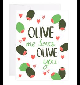 9th Letterpress Olive Love Card