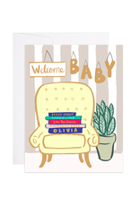 9th Letterpress Baby Books Card