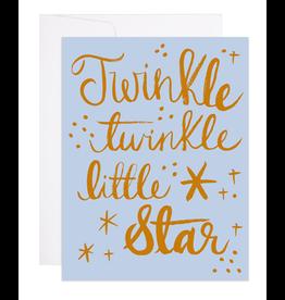 9th Letterpress Littlest Star Card