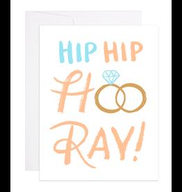 9th Letterpress Hip Hip Hooray Wedding Card