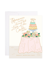 9th Letterpress Cake Table Card